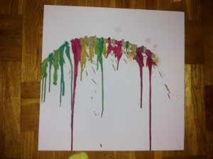 Melted Crayon Flower