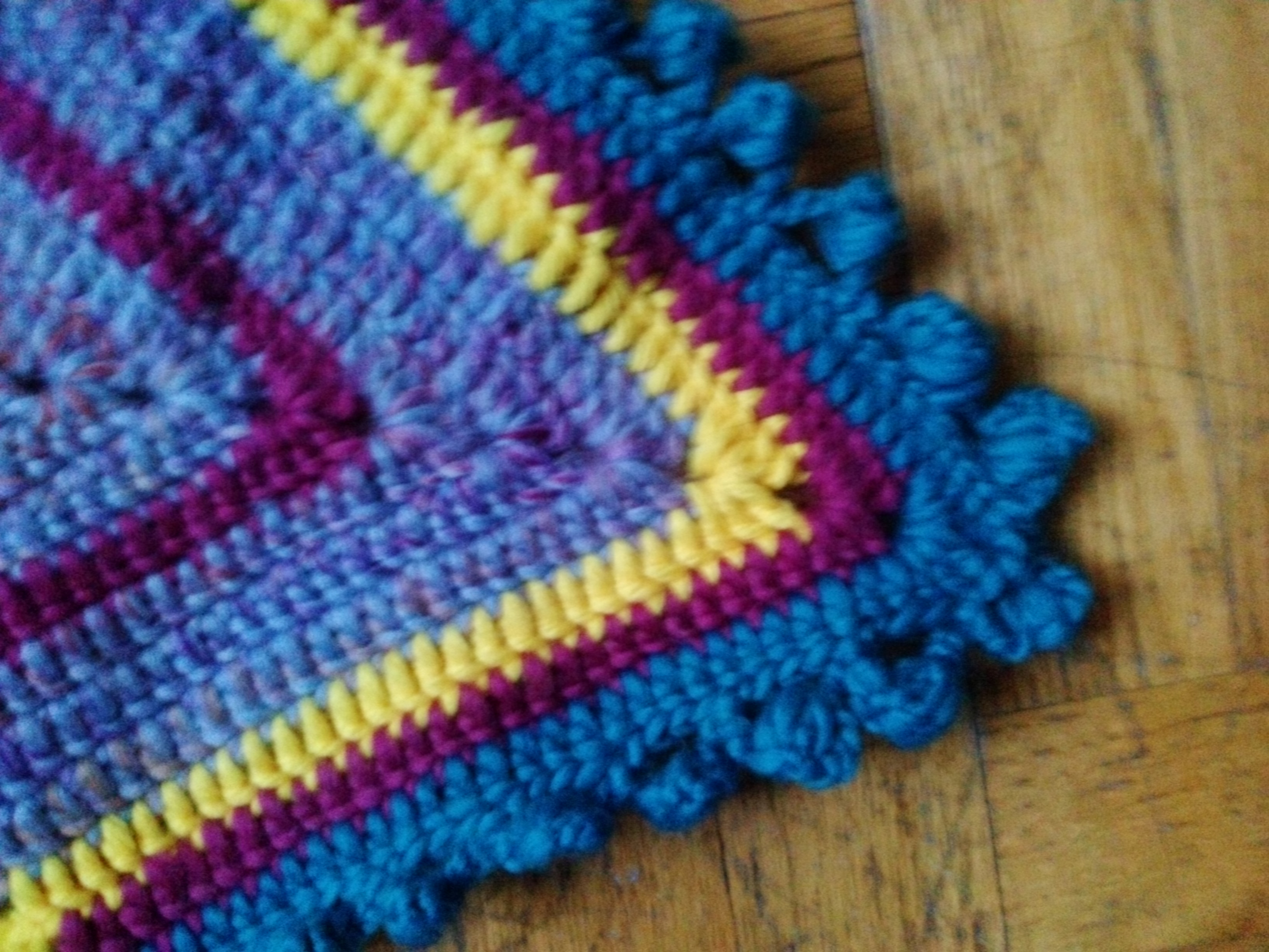 Learning To Crochet Starshaped Baby Afghan With Puffy Edge Just